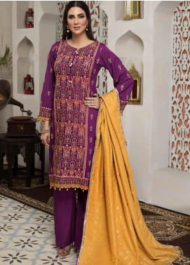 Arena by Mohagni Embroidered Linen Unstitched 3 Piece Suit AMO20LN 07 - Winter Collection