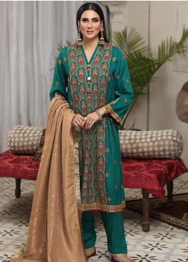 Arena by Mohagni Embroidered Linen Unstitched 3 Piece Suit AMO20LN 08 - Winter Collection