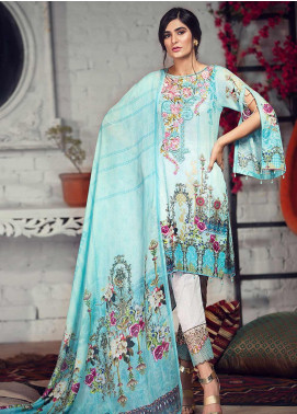 Arena by Mohagni Embroidered Lawn Unstitched 3 Piece Suit AMO19P 09 - Mid Summer Collection