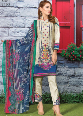 Master Fabrics Embroidered Lawn Unstitched 3 Piece Suit MF20AL MSV-403 - Summer Collection