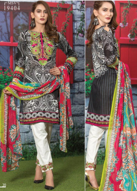 Master Fabrics Embroidered Lawn Unstitched 3 Piece Suit MF20AL MSV-404 - Summer Collection