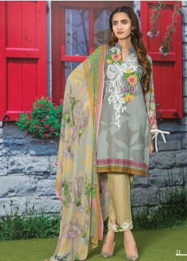 Master Fabrics Embroidered Lawn Unstitched 3 Piece Suit MF20AL MSV-406 - Summer Collection