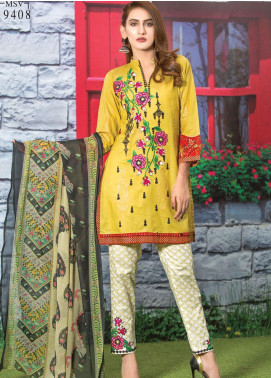 Master Fabrics Embroidered Lawn Unstitched 3 Piece Suit MF20AL MSV-408 - Summer Collection