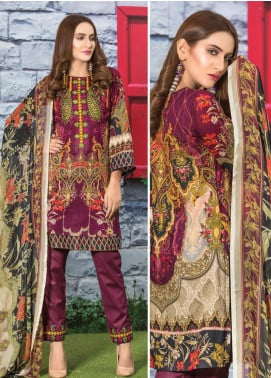 Master Fabrics Embroidered Lawn Unstitched 3 Piece Suit MF20AL MSV-409 - Summer Collection