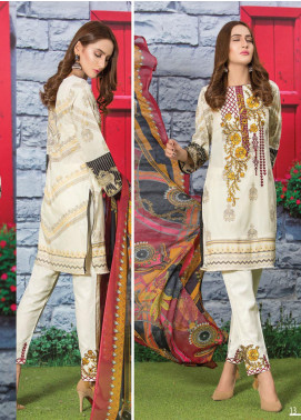Master Fabrics Embroidered Lawn Unstitched 3 Piece Suit MF20AL MSV-410 - Summer Collection