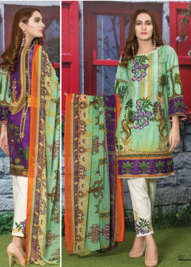 Master Fabrics Embroidered Lawn Unstitched 3 Piece Suit MF20AL MSV-412 - Summer Collection