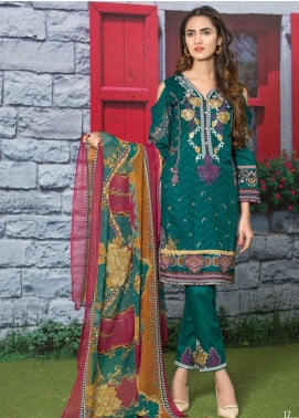 Master Fabrics Embroidered Lawn Unstitched 3 Piece Suit MF20AL MSV-413 - Summer Collection
