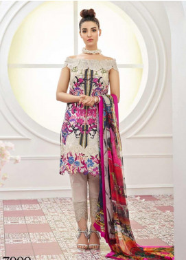 Asifa & Nabeel Embroidered Lawn Unstitched 3 Piece Suit AN19F 1N EPITOME - Festive Collection