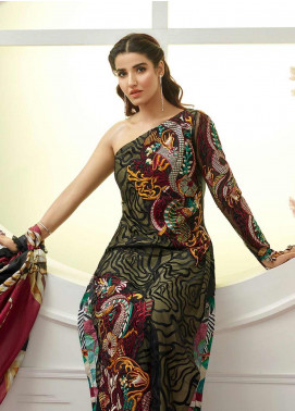 Asifa & Nabeel Embroidered Lawn Unstitched 3 Piece Suit AN19F 2J GALAXIES - Festive Collection
