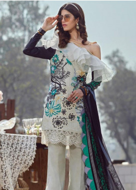 Asifa & Nabeel Embroidered Lawn Unstitched 3 Piece Suit AN20L Magic Burst 45-M - Spring / Summer Collection