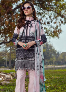 Asifa & Nabeel Embroidered Lawn Unstitched 3 Piece Suit AN20L Pastel Perfection 8-E - Spring / Summer Collection