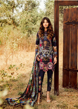 Asifa & Nabeel Embroidered Khaddar Unstitched 3 Piece Suit AN18W 11A That Eve - Winter Collection