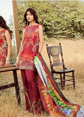 Asifa & Nabeel Embroidered Khaddar Unstitched 3 Piece Suit AN18W 44D Cozy Afternoon - Winter Collection