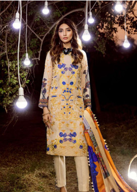 Asifa & Nabeel Embroidered Karandi Unstitched 3 Piece Suit AN18W 6M - Winter Collection