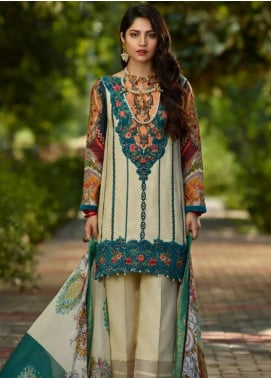 Asifa & Nabeel Embroidered Crape Unstitched 3 Piece Suit AN19W 3J RANG - Winter Collection