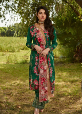 Asifa & Nabeel Embroidered Silk Unstitched 3 Piece Suit AN19W 9F GHULAB - Winter Collection