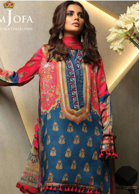 Asim Jofa Embroidered Charmeuse Unstitched 3 Piece Suit AJ18S 02 - Winter Luxury Collection