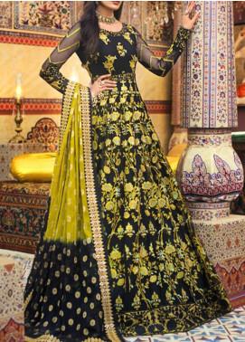 Asim Jofa Embroidered Net Unstitched 3 Piece Suit AJ20FZ-01 - Luxury Collection