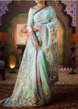 Asim Jofa Embroidered Organza Unstitched Saree AJ20FZ-02 - Luxury Collection