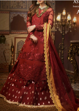 Asim Jofa Embroidered Organza Unstitched 3 Piece Suit AJ20FZ-03 - Luxury Collection