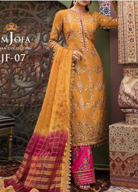 Asim Jofa Embroidered Viscose Unstitched 3 Piece Suit AJ20FZ-07 - Luxury Collection