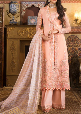 Asim Jofa Embroidered Organza Unstitched 3 Piece Suit AJ20FZ-08 - Luxury Collection
