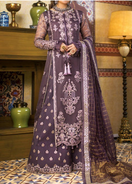 Asim Jofa Embroidered Organza Unstitched 3 Piece Suit AJ20FZ-09 - Luxury Collection