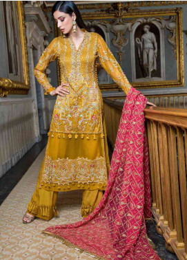 Asim Jofa Embroidered Chiffon Unstitched 3 Piece Suit AJ19F 3A - Festive Collection