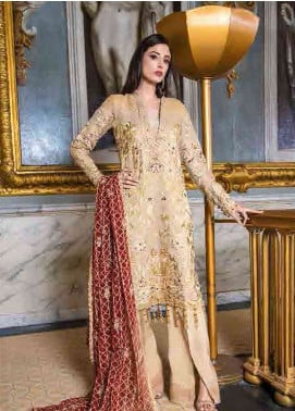 Asim Jofa Embroidered Chiffon Unstitched 3 Piece Suit AJ19F 5A - Festive Collection