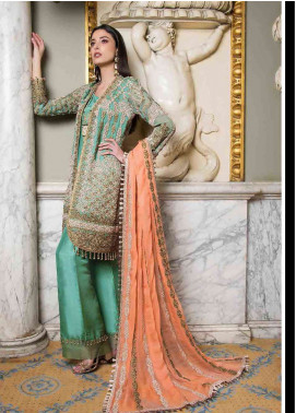 Asim Jofa Embroidered Chiffon Unstitched 3 Piece Suit AJ19F 6B - Festive Collection