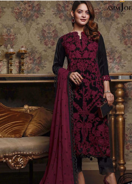 Liyana by Asim Jofa Embroidered Velvet Unstitched 3 Piece Suit AJ20V 01 - Winter Collection