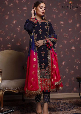 Liyana by Asim Jofa Embroidered Velvet Unstitched 3 Piece Suit AJ20V 02 - Winter Collection
