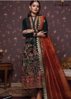 Liyana by Asim Jofa Embroidered Velvet Unstitched 3 Piece Suit AJ20V 03 - Winter Collection
