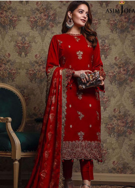 Liyana by Asim Jofa Embroidered Velvet Unstitched 3 Piece Suit AJ20V 06 - Winter Collection