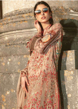 Asim Jofa Embroidered Lawn Unstitched 3 Piece Suit AJ19L 10B - Spring / Summer Collection