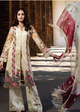 Asim Jofa Embroidered Lawn Unstitched 3 Piece Suit AJ19L 11B - Spring / Summer Collection