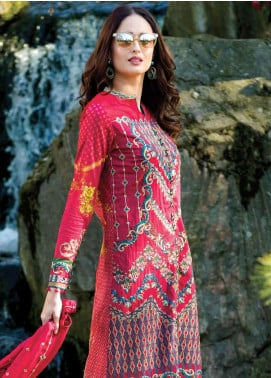 Asim Jofa Embroidered Lawn Unstitched 3 Piece Suit AJ19L 1A - Spring / Summer Collection