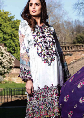 Asim Jofa Embroidered Lawn Unstitched 3 Piece Suit AJ19L 2A - Spring / Summer Collection