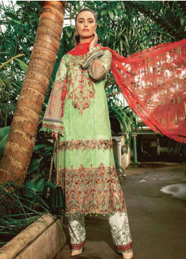 Asim Jofa Embroidered Lawn Unstitched 3 Piece Suit AJ19L 2B - Spring / Summer Collection