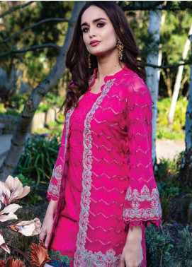 Asim Jofa Embroidered Lawn Unstitched 3 Piece Suit AJ19L 4A - Spring / Summer Collection