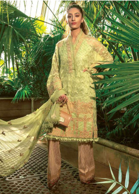 Asim Jofa Embroidered Lawn Unstitched 3 Piece Suit AJ19L 4B - Spring / Summer Collection