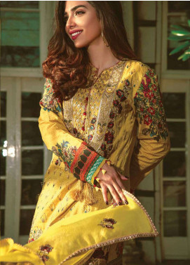 Asim Jofa Embroidered Lawn Unstitched 3 Piece Suit AJ19L 5A - Spring / Summer Collection