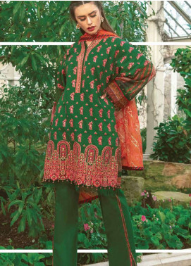 Asim Jofa Embroidered Lawn Unstitched 3 Piece Suit AJ19L 7A - Spring / Summer Collection