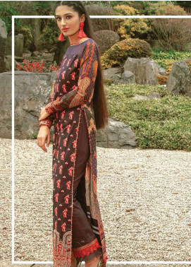 Asim Jofa Embroidered Lawn Unstitched 3 Piece Suit AJ19L 7B - Spring / Summer Collection
