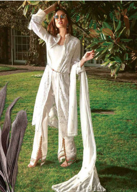Asim Jofa Embroidered Lawn Unstitched 3 Piece Suit AJ19L 9A - Spring / Summer Collection