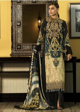Asim Jofa Embroidered Lawn Unstitched 3 Piece Suit AJ20LL 10B - Luxury Collection