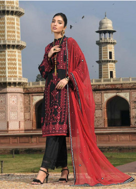 Asim Jofa Embroidered Lawn Unstitched 3 Piece Suit AJ20LL 11A - Luxury Collection