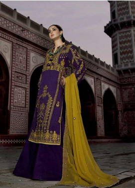 Asim Jofa Embroidered Lawn Unstitched 3 Piece Suit AJ20LL 11B - Luxury Collection