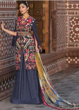 Asim Jofa Embroidered Lawn Unstitched 3 Piece Suit AJ20LL 12B - Luxury Collection