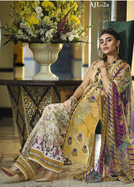 Asim Jofa Embroidered Lawn Unstitched 3 Piece Suit AJ20LL 2A - Luxury Collection